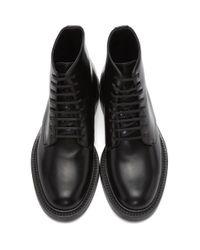 Bottes militaires noires Saint Laurent en coloris Black
