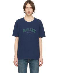 メンズ Saint Laurent ネイビー Malibu T シャツ Blue