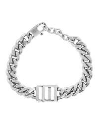 メンズ DSquared² シルバー ロゴ ブレスレット Metallic