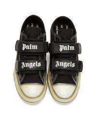 Palm Angels ブラック ロゴ バルカナイズ スニーカー Black