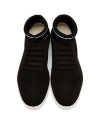 Fendi Black Knit High-top Sneakers for men