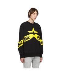 メンズ DIESEL ブラック S-bay-holes スウェットシャツ Black