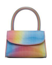 Sac multicolore Rainbow Mini By Far en coloris Blue