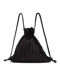 Issey Miyake ブラック Linear Knit バッグ Black