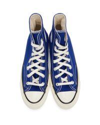 メンズ Converse ブルー Seasonal Color Chuck 70 ハイ スニーカー メンズ Blue