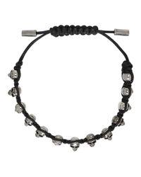 Alexander McQueen - Black Skull Friendship Bracelet for Men - Lyst