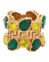 Versace Green Jungle Empire Ring