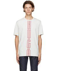 メンズ HUGO オフホワイト Darlon T シャツ Natural