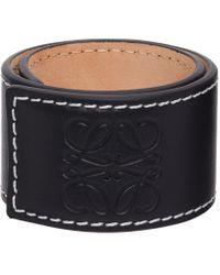 メンズ Loewe ブラック スモール Slap ブレスレット Black