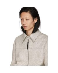 メンズ Loewe グレー ペーパー ブルゾン ジャケット Gray