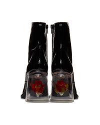 Bottes noires Rose Heel Maison Margiela en coloris Black