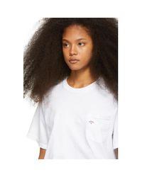 Noah NYC ホワイト ポケット T シャツ White