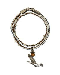 Lanvin - Metallic Multicolor Bird Bracelet - Lyst