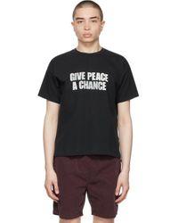 メンズ Remi Relief ブラック Give Peace A Chance T シャツ Black