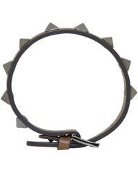 Valentino - Brown Rockstud Bracelet for Men - Lyst