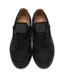 Giuseppe Zanotti Black Mesh Low-top Sneakers for men