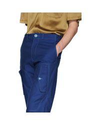 メンズ Sies Marjan ブルー Eshan カーゴ パンツ Blue
