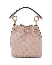 Valentino Garavani Pink Garavani Mini Rockstud Spike Bucket Bag