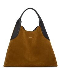 Lanvin | Brown Suede Large Cabas Tote | Lyst