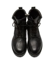 Rick Owens Black Low Army Boots for men