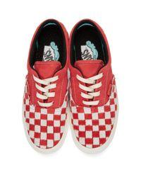 メンズ Vans レッド And ホワイト Comfycush エラ L スニーカー Red