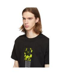 メンズ DIESEL ブラック T-wallace Y1 T シャツ Black
