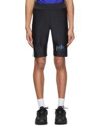 メンズ Martine Rose Ssense 限定 ブラック & ブルー サイクリング ショーツ Blue