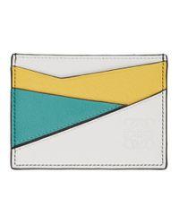メンズ Loewe トリコロール パズル カード ホルダー Multicolor