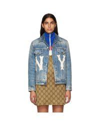Gucci New York Yankees Edition ブルー デニム ジャケット Blue