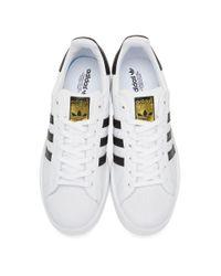 Adidas Originals - White & Black Superstar Bold Sneakers - Lyst