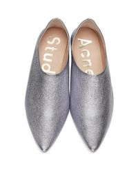 Acne - Purple Amina Space Flats - Lyst