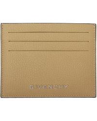 Givenchy - Natural Beige Bicolor Pandora Card Holder - Lyst