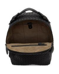 Bottega Veneta - Black Intrecciato Backpack - Lyst