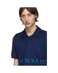メンズ Givenchy ネイビー リバース ポロ Blue