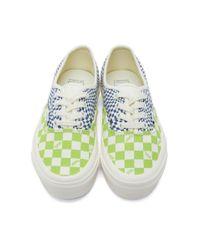 メンズ Vans グリーン And ブルー チェック Og Authentic Lx スニーカー Blue