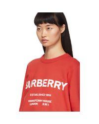 Burberry レッド Harlow スウェットシャツ Red