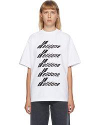 we11done ホワイト フロント ロゴ T シャツ White