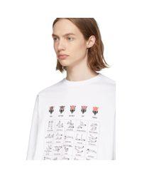 メンズ Balenciaga ホワイト ワークアウト T シャツ White