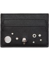 Lyst - Porte-cartes noir Skull Alexander McQueen en coloris Noir 39b4e35ce6f