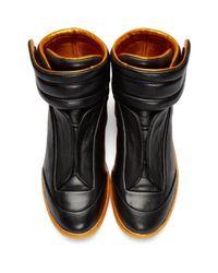 Maison Margiela Black & Orange Future High-top Sneakers for men