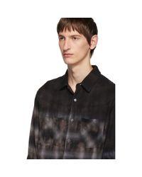 Chemise en flanelle decoloree mauve Amiri pour homme en coloris Black