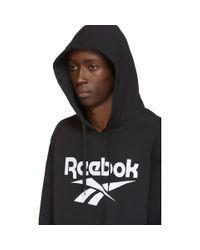 メンズ Reebok ブラック Cl F ベクター フーディ Black