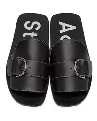 Acne - Black Virgie Sandals - Lyst