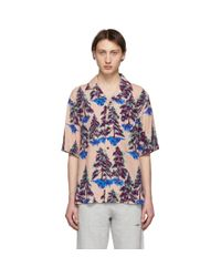 Acne Pink And Blue Simon Pine Shirt for men