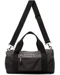 メンズ Valentino Garavani コレクション ブラック Vltn ミディアム ボストン ダッフル バッグ Black