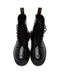 Dr. Martens Black Iridescent Rainbow 1460 Boots