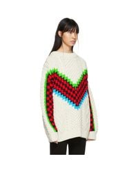 Ashley Williams - White Ivory Chunky Wool Sweater - Lyst