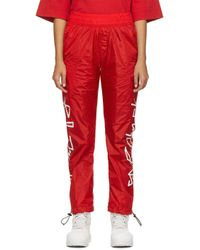 Palm Angels レッド Desert ロゴ トラック パンツ Red