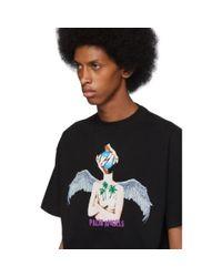T-shirt noir Angels Palm Angels pour homme en coloris Black