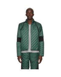 メンズ Kiko Kostadinov Asics Edition グリーン And ブラック インシュレーション ジャケット Green
